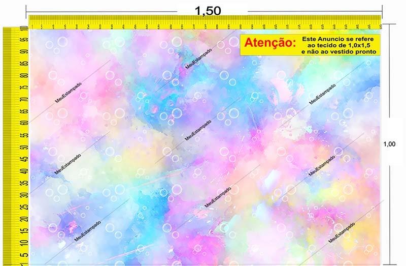 Tecido Temático - Tie Dye Bolhas 1,0x1,5 #137