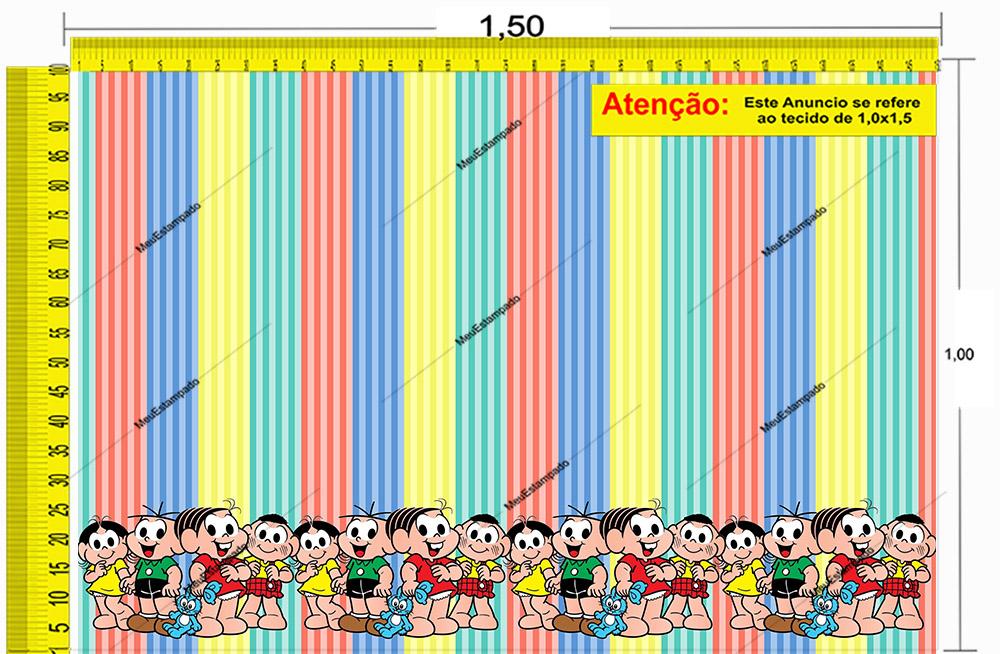Tecido Temático - Turma da Mônica 1,0x1,5 #234