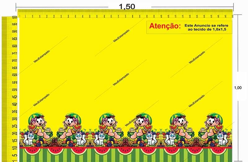 Tecido Temático - Turma da Mônica: Magali 1,0x1,5 #161