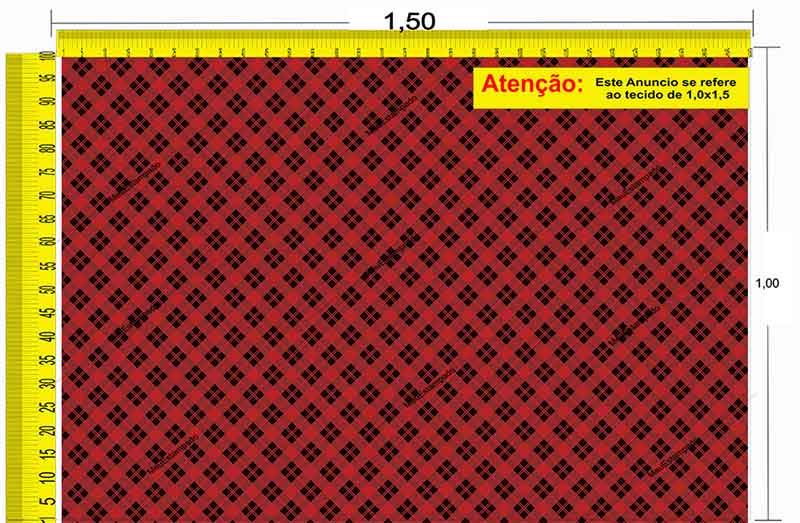 Tecido Temático - Xadrez 1,0x1,5 #70