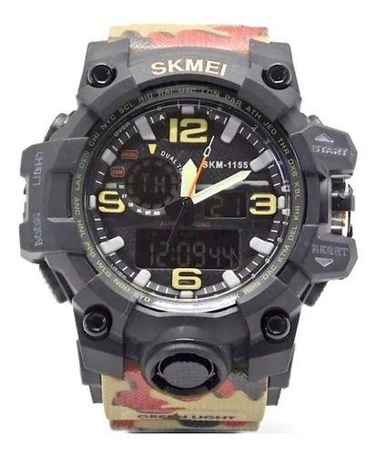 Relógio Skmei Original Pulseira Camuflada S Shock Mudumaster