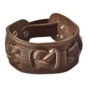 Bracelete Couro Legítimo Country Cowboy Ajuste Trançado Top