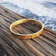 Pulseira Bracelete Pai Nosso Dourada Sabona De Aço 316l Ouro