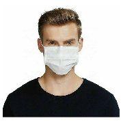 Kit 100 Máscaras Proteção Facial Tnt Branca Clipe E Elástico