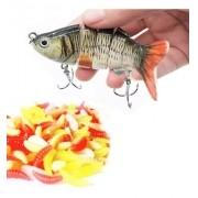 Kit Pesca 1 Lambari Articulado + 20 Larvas Isca Artificial