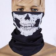 Máscara Caveira Motoqueiro Paintball Airsoft Bandana Queixo