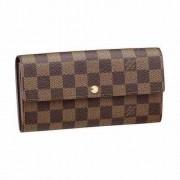 Carteira Louis Vuitton Bag Emilie Luxo Xadrez Damier Marrom