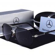 Óculos Sol Masculino Mercedes Benz Polarizado Uv Prateado