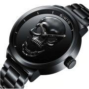 Relógio Masculino Gimto Skull Preto Caveira Black Original