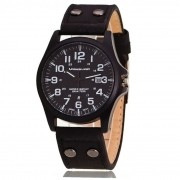 Relógio Masculino Preto Fashion Black calendário presente