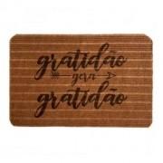Tapete Capacho de entrada Bem Vindo Gratidão gera gratidão