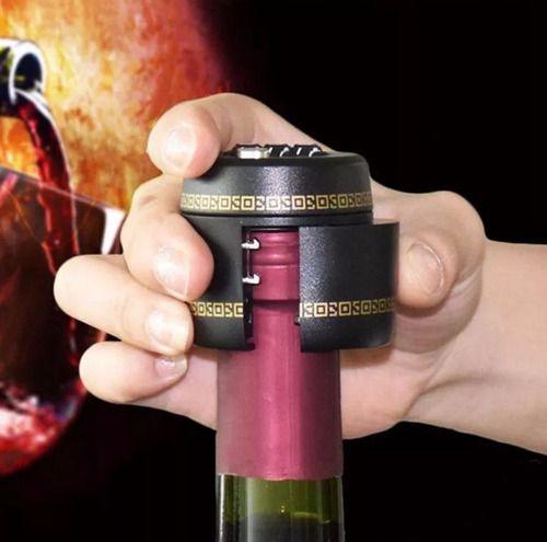 Cadeado De Garrafa Com Senha 3 Dígitos Protege Trava Bebida