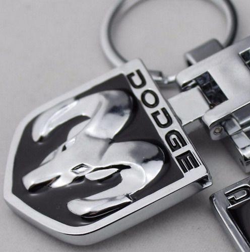 Chaveiro Dodge Ram Original Aço Inoxidável Em Alto Relevo 3d