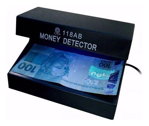 Detector Nota Falsa Luz Negra Uv Acusa Cedulas Dinheiro Fake