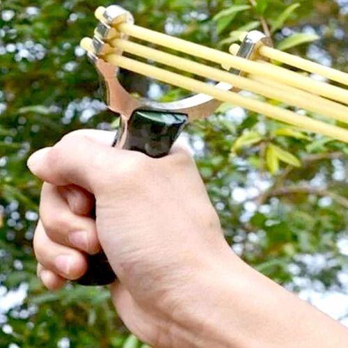 Kit Estilingue Atiradeira Profissional Top + Cartão Canivete