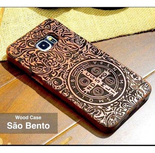 Cp São Bento Madeira Samsung Edge S7 S8 S9 Plus iPhone 7 8 X