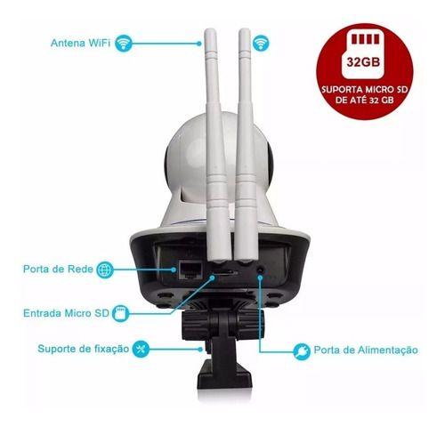Câmera Wifi Babá Eletrônica Visão Noturna Microfone Sem Fio