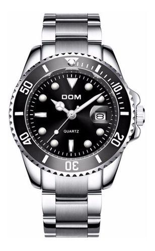 Relógio Masculino Dom 2020 Original Fundo Preto Prova D Água