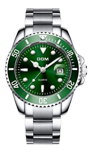 Relógio Executivo Dom Original Quartzo Prata A Prova D' Água