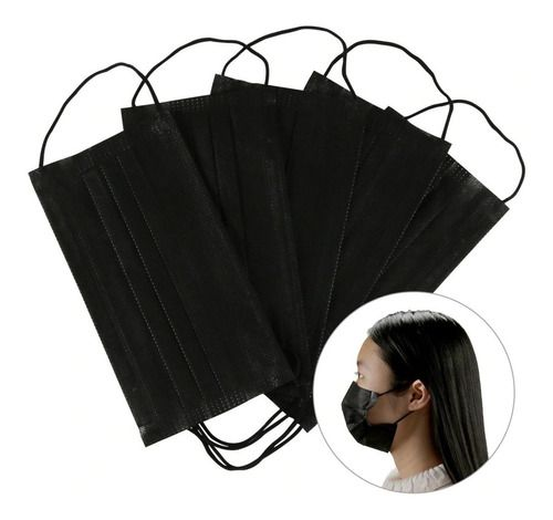 Kit Máscara Caveira Tecido Elástico + 5 Proteção Tnt Lavável