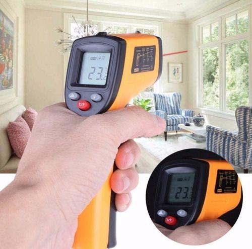 Termômetro Medidor De Febre Infravermelho Temperatura Laser