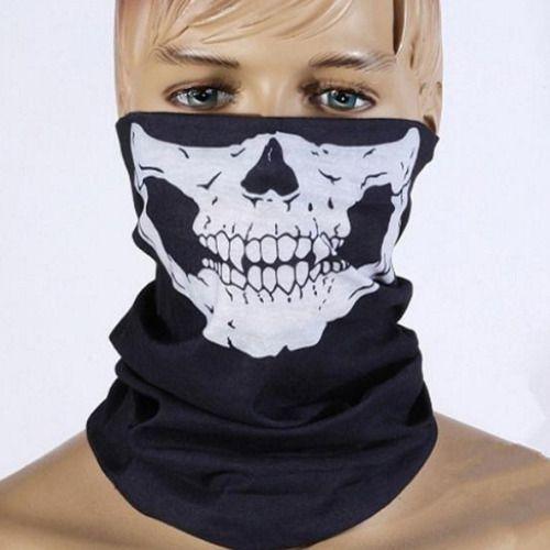 Máscara Caveira Tecido Elástico Proteção Airsoft Balaclava