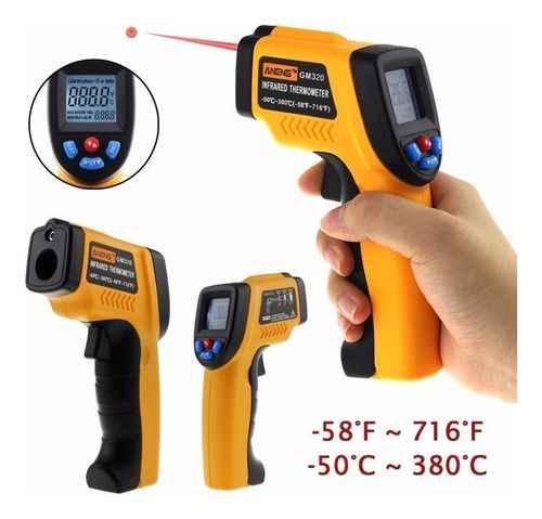 Termômetro Digital Infravermelho Laser -50º A 380º Medidor