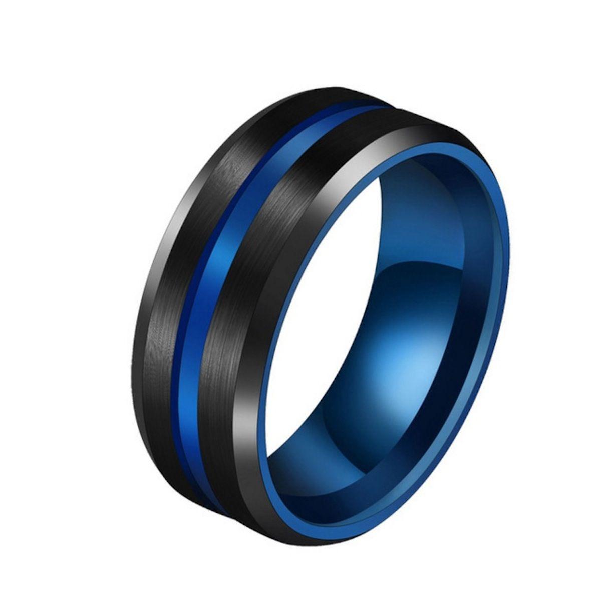 Anel Black Blue Hematita Emagrecimento Magnética Equilíbrio