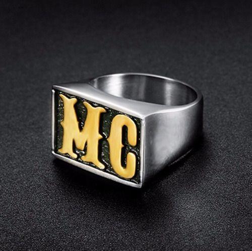 Anel Masculino MC Hip Hop Aço 316l Funk Folheado a ouro