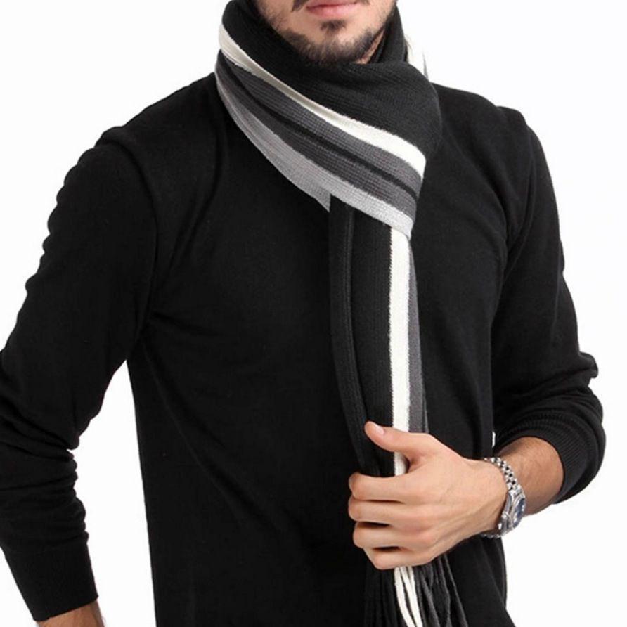 Cachecol Masculino Importado Xale Clássico De Lã Scarf Homem