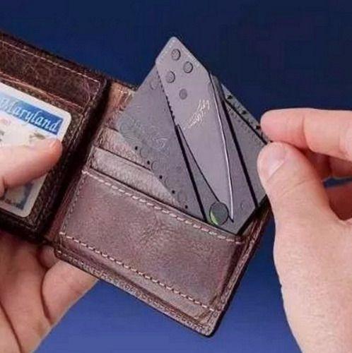 Cartão Canivete De Carteira Cardsharp Dobrável Faca carteira