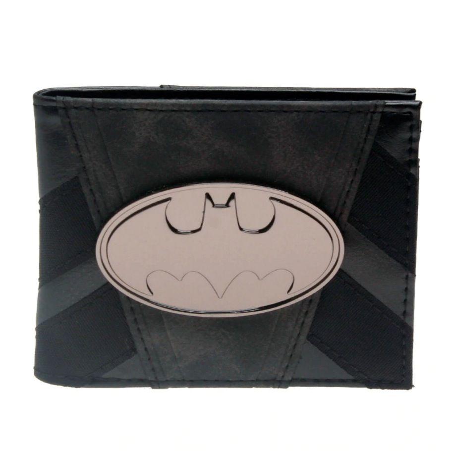 Carteira Masculina Batman Dc Original Preta Modelo Couro