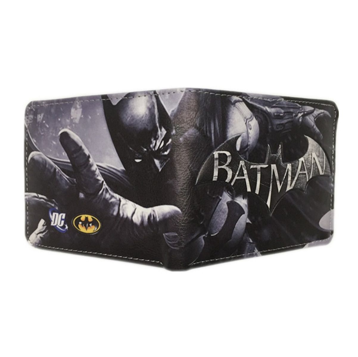 Carteira Masculina Batman Original Dc Detalhes 3d Tamanho