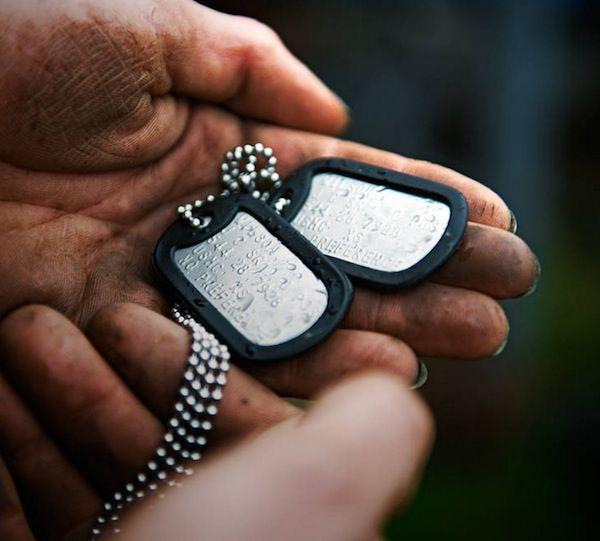 Colar Dog Tag Militar Placas Identificação Exercito Original