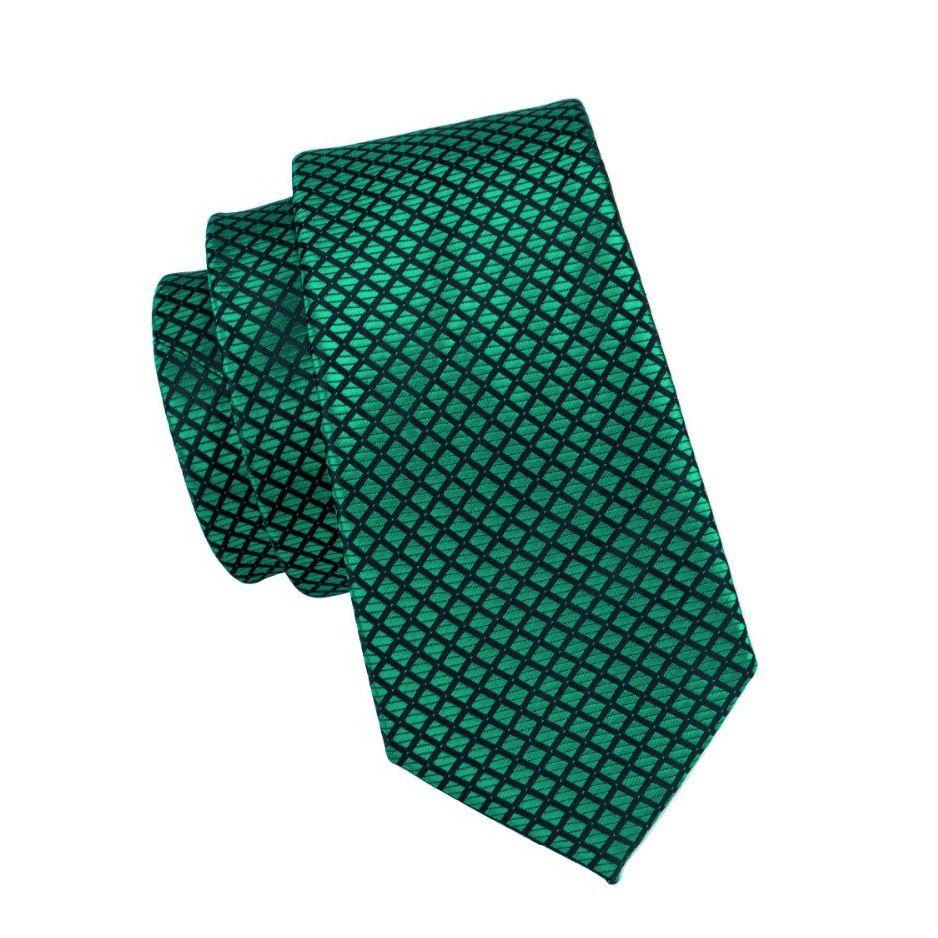 Gravata Seda Italiana Verde Luxo Classica Noivo +lenço +bots