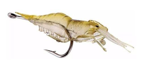 Kit 05 Camarão Aromatizado Isca Artificial Pesca Garantida