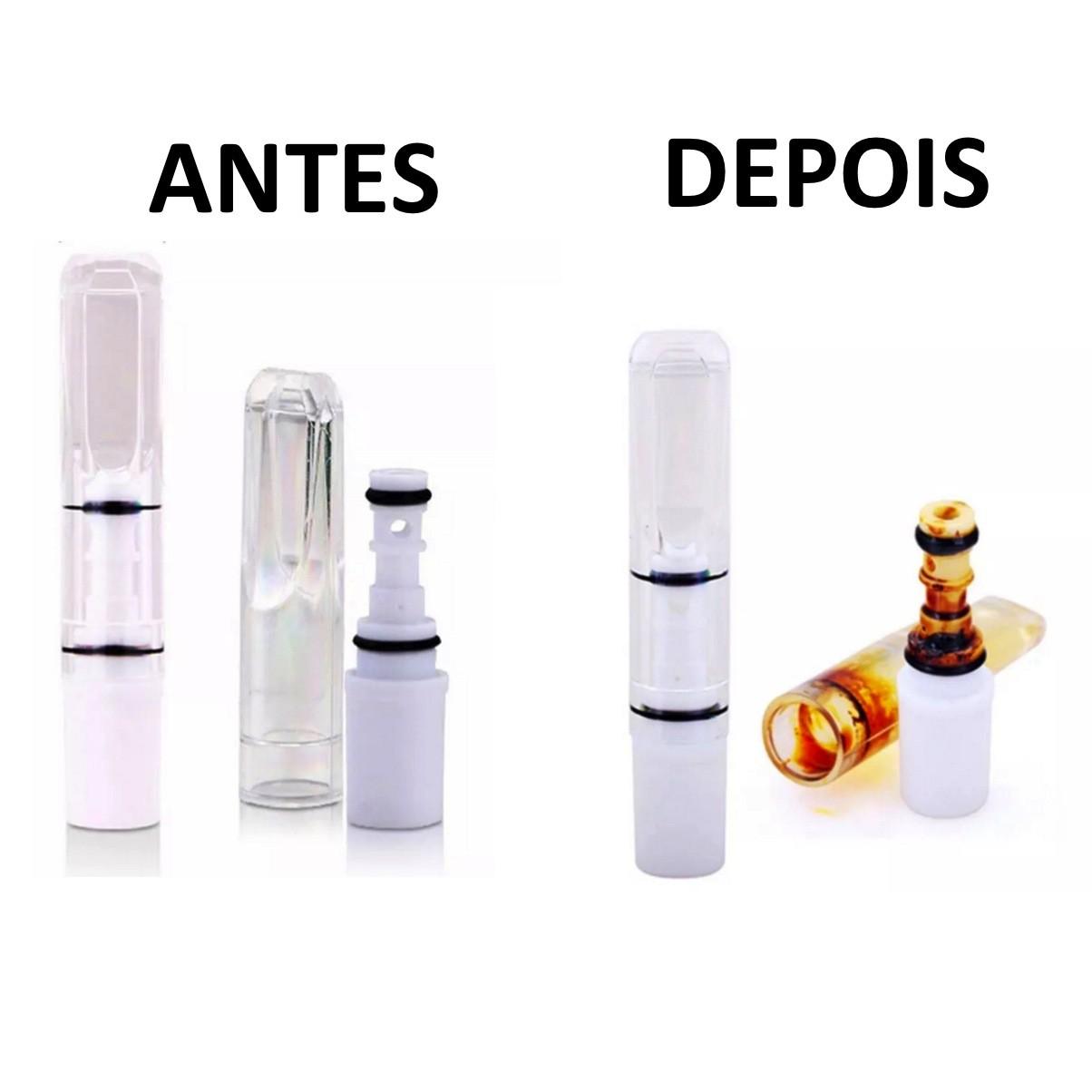 Kit 10 Piteiras Filtro De Cigarro Reutilizável Reduz Nicotina