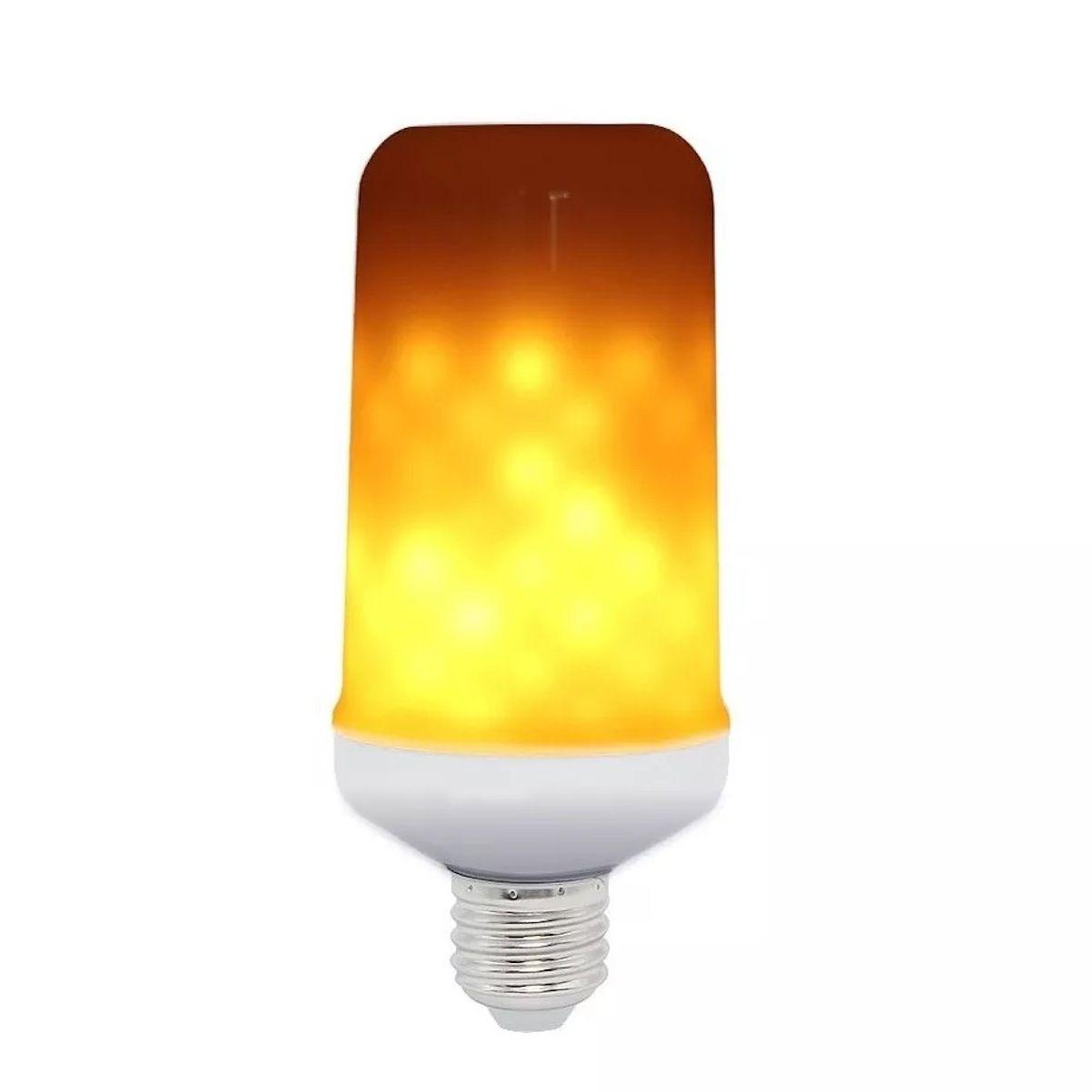 Lâmpada Led Luz Efeito Fogo Chama Cenário Fogueira decoração