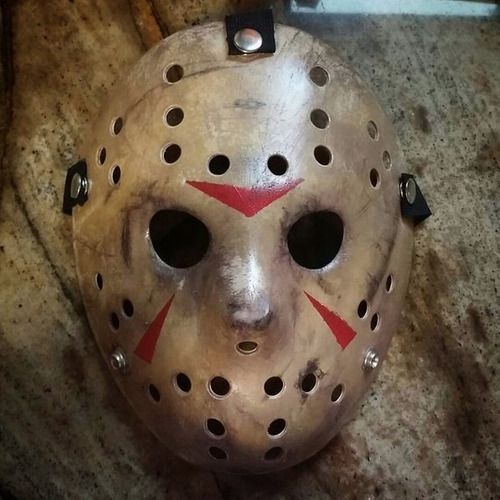 Máscara Jason Original Igual Filme Hóquei Dura Forte (video)