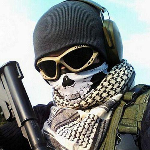 Máscara Paintball Airsoft Caveira Sniper Motoqueiro Soldado