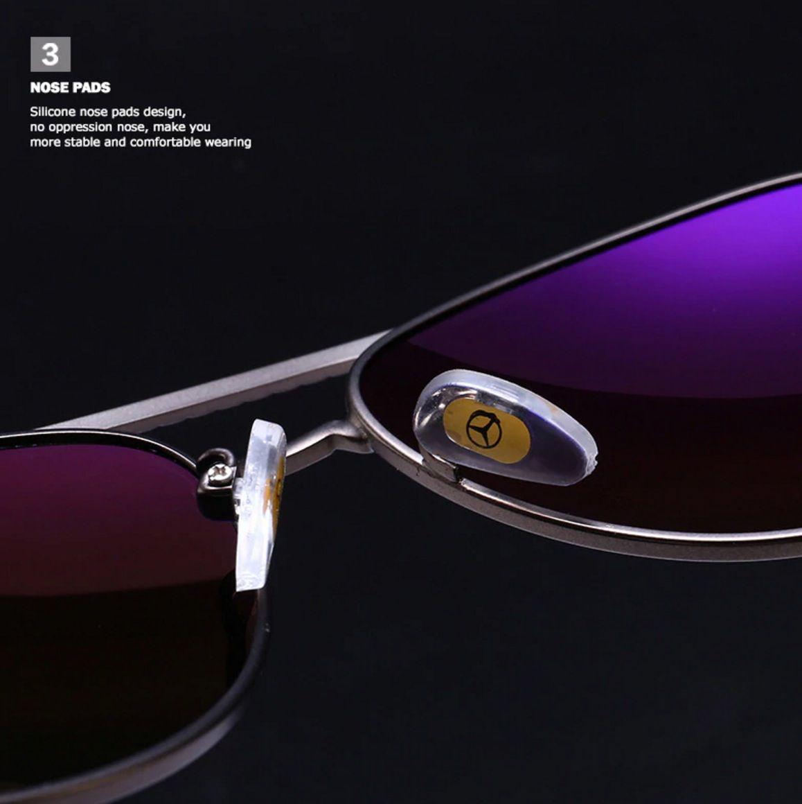 Óculos Masculino Mercedes Benz Polarizado Aviador Dourado