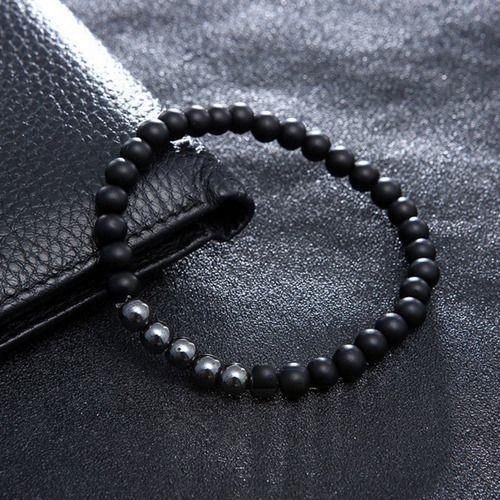 Pulseira Terço Terçinho Pulso São Bento Pedra Hematita Luxo