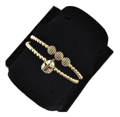 Pulseiras Arjandas Pedras Ouro 18 Zircônia Luxuosa Capacete