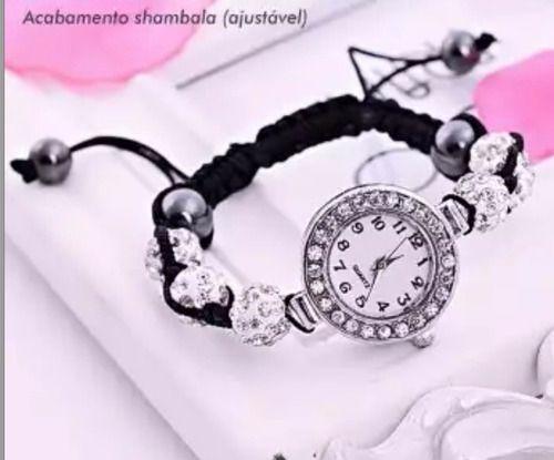 Relógio Femino De Luxo Pedras Quartzo Promoção Com Garantia