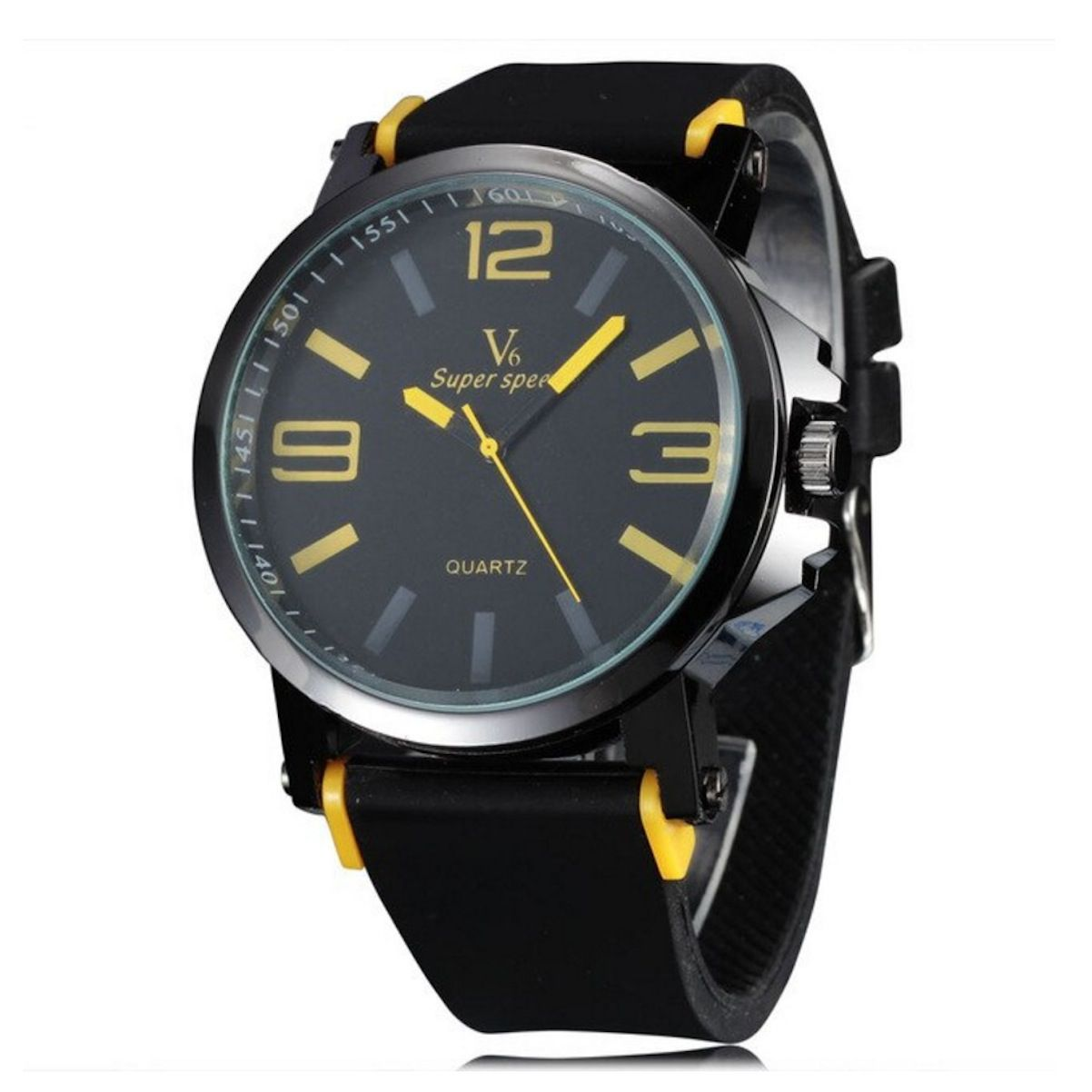Relógio Masculino Analógico Militar Luxo Esportivo Silicone