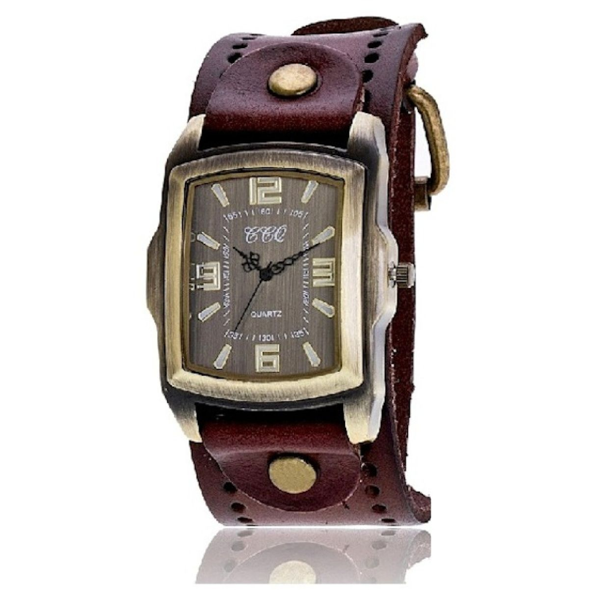Relógio Masculino classico pulseira De Couro Vintage Retrô