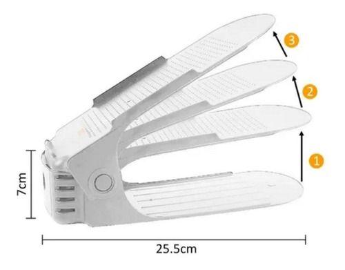 Kit 6 Sapateiras Rack Organizadora Sapatos Tênis Chinelo