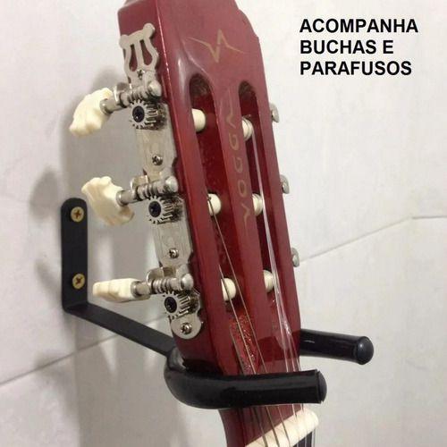 Suporte De Parede Com Espuma Protetora Violão Guitarra Baixo