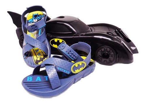 Sandália Infantil Masculina Grendene Batman + Carro