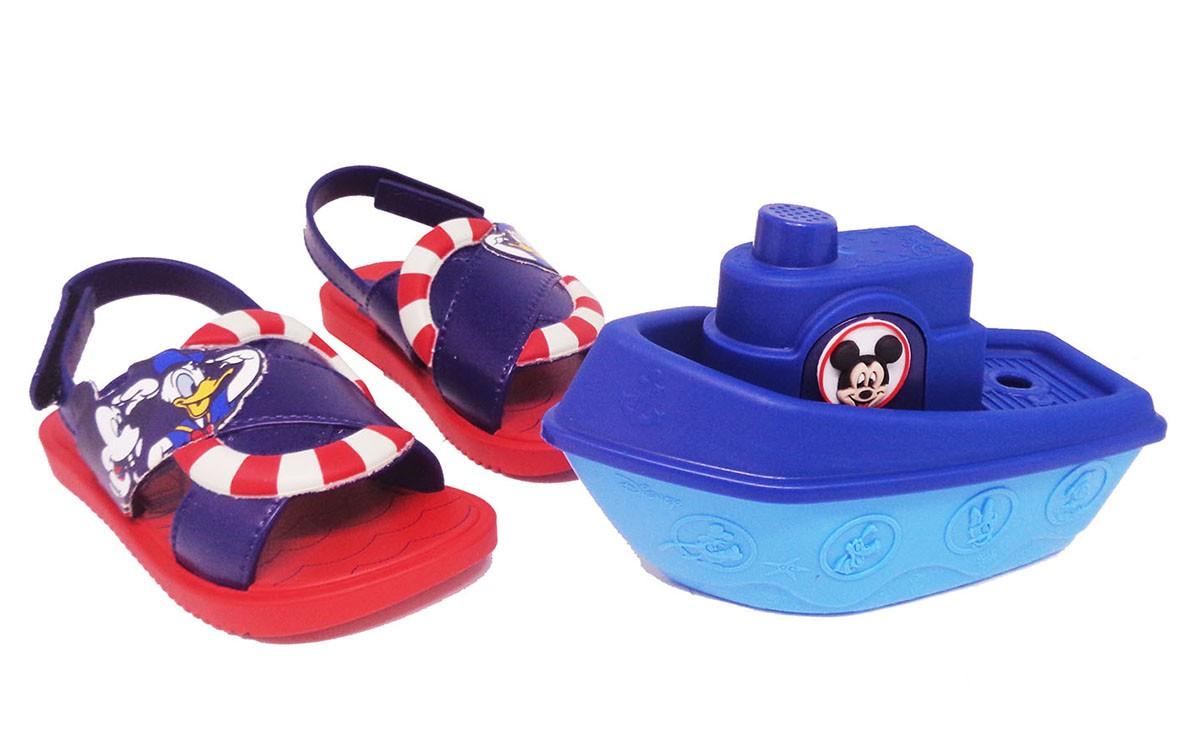 Sandália Infantil Meninos Grendene Disney + Barquinho
